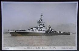 B16 Bateau  Croiseur  Georges Leygues  Carte Photo Marius Bar - Guerre