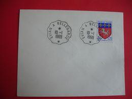 Evian A Bellegarde Cachet Ambulant Convoyeur Poste Ferroviaire Sur Lettre - Postmark Collection (Covers)