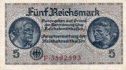 GERMANY-. 5 REICHSMARK 1940 **CIRC.   P-R138a  XF+++ - [ 4] 1933-1945: Derde Rijk