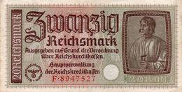GERMANY-. 20 REICHSMARK 1940 **CIRC. XF   P-R139 - [ 4] 1933-1945: Derde Rijk