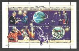 GUINEA 1998 SPACE JOHN GLENN PRESIDENT KENNEDY CLINTON ROCKETS M/SHEET MNH - Guinea (1958-...)