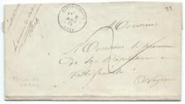 MARQUE POSTALE RIEUPEYROUX POUR VILLEFRANCHE / 1874 / MAIRE DE VABRE - Marcophilie (Lettres)