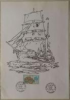 36 Bureau Temporaire Oblitération Audierne 29 Finistère Cap 96 Fête Du Vent Et De La Mer 5 Juillet 1996 - Marcofilie (Brieven)