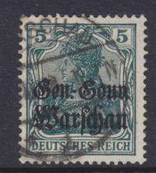Dt.Bes.1.WK Polen MiNr. 8b Gest. Gepr. - Occupation 1914-18