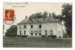 Environs De Mars Sur Allier - Château De Villars - Circulé 1912, Cachet Convoyeur De St Germain Des Fossés à Nevers - Autres Communes