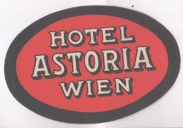 Etichetta Per Valigia. Hotel Astoria Wien. Ovale - Etiquettes D'hotels