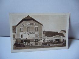 ARNAY LE DUC 21 COTE D'OR BOURGOGNE HOTEL DES GARES CPA HÉLIOGRAVURE COMBIER MACON CIM - Arnay Le Duc