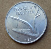 1980 R - ITALIA 10 Lire Aratro / Spighe - Circolata - 10 Lire