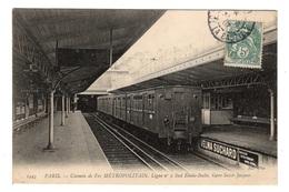75 PARIS - 14ème, Chemin De Fer Métropolitain, Ligne N°2 Sud Etoile-Italie, Gare Saint-Jacques - District 14