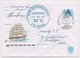 NORTH POLE Polar ARCTIC Mail Cover USSR RUSSIA Ship Icebreaker Yamal Signature - Stations Scientifiques & Stations Dérivantes Arctiques
