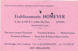 Buvard Papeterie HOMEYER Quai Jules Ferry  à Epinal - Papeterie