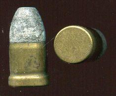 Une Cartouche Ancienne 11 Mm Pour Revolver PERRIN - Percussion Centrale Interne Brevetée - Armi Da Collezione