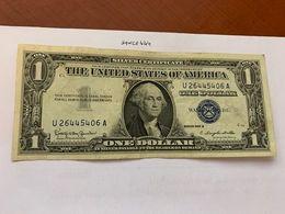 United States Washington Circulated Banknote Blue 1957  B #63 - Silver Certificates – Títulos Plata (1928-1957)