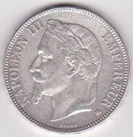 5 Francs 1869 BB Napoleon III En Argent. - Francia