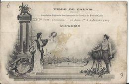 62. Ville De CALAIS - Association Régionale Des Gymnastes Du Nord & Du Pas De Calais - XXIIè Fête Concours 30 Juin 1907 - Calais