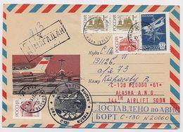 NORTH POLE Station Base Polar ARCTIC Mail Cover USSR RUSSIA Magadan Aviation Plane Parachiute USA Alaska - Stations Scientifiques & Stations Dérivantes Arctiques