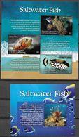 GRENADA CARRIACOU, 2020, MNH, MARINE LIFE, SALTWATER FISH, LIONFISH, TRIGGERFISH, SHEETLET+S/SHEET, HIGH FV, - Fishes