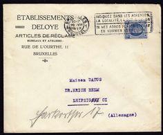 Belgium Brussel 1929 / Machine Stamp / Etablissements Deloye / King Albert 1927 1.75Fr Blue - Belgium
