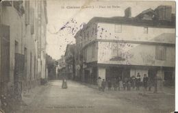 47. CLAIRAC (L.-et-G.) Place Des Halles - Oblitération Militaire Belge Et Relais Hollande 1916 - Francia