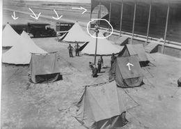 Armée Française Aéroport De BARIKA Base  1937 AVIONS 1° GROUPE AVIATION AFRIQUE PL CAMP - Guerre, Militaire