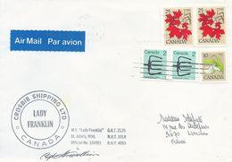 """Lettre """"Lady Franklin"""" Avec Timbres Canada N°630 Fleur, 639 Erable Et 819 Foëne - OMEC Montréal Du 06/05/1983 - Navires & Brise-glace"""