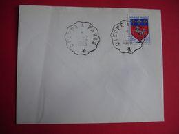 Dieppe A Paris Cachet Ambulant Convoyeur Poste Ferroviaire Sur Lettre - Postmark Collection (Covers)