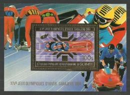 GUINEA 1984 OLYMPICS WINTER SARAJEVO BOBSLEIGH GOLD FOIL M/SHEET MNH - Guinea (1958-...)