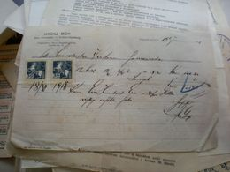Judaica Banatski Karlovac Nagykarolyfalva Grosz Mor  Nau Brenholz U Kohlen Handlung 1918 30 Filler Tax Stamps - Fatture & Documenti Commerciali