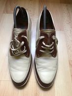 VINTAGE 1978 Paire De Chaussures Cuir Homme 43 - Andere Verzamelingen