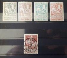 Timbres Belges : CARITAS 1910 COP N° 84 à 87 NEUF * Et 89 (O) & - 1910-1911 Caritas