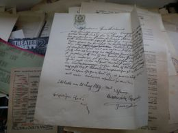 Mehadia Romania 1864 15 Kr Tax Stamps Militar In Temes.... - Historische Dokumente