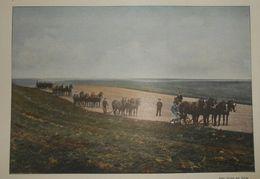 Canadian Pacific Railway. Labourage Dans Les Prairies Du Manitoba. Photogravure Fin XIXe. - Stampe & Incisioni