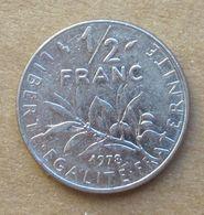1978 FRANCIA  ½ Franc (O. Roty) - Circolata - Francia