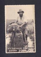 Carte Photo R. P. Deschamps O.M.I Bongor Tchad Afrique Equatoriale Francaise ( Pere Missionnaire Vélo 42416) - Chad