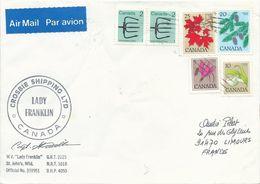 """Lettre """"Lady Franklin"""" Avec Timbres Canada N°629, 630, 638, 639 Et 819 - OMEC Montréal Du 06/05/1983 - Navires & Brise-glace"""