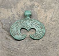 "Pagan Amulet  ""moon"" Vikings, Kievan Rus 10-12 Centuries - Archéologie"