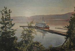 Canadian Pacific Railway. Le Vapeur Aberdeen Sur Le Lac Okanagan. Photogravure Fin XIXe. - Stampe & Incisioni