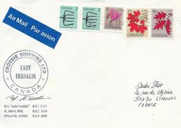 """Lettre """"Lady Franklin"""" Avec Timbres Canada N°629, 639, 658 Et 819 - OMEC Montréal Du 06/05/1983 - Navires & Brise-glace"""