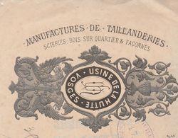 Traite 1889 / Manufacture Taillanderie / Scierie, Bois Sur Quartiers Et Façonnés / Usine De La Hutte / 88 Vosges - 1800 – 1899