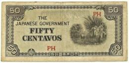 PHILIPPINES - 50 Centavos - ND ( 1942 ) WWII - Pick 105.b - Serie PH - Japanese Occupation - Filipinas