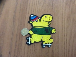 AUTOCOLLANT, Sticker «hippopotame, Patin à Roulette» - Adesivi