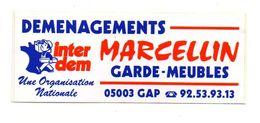 Autocollant Déménagements Inter Dem Marcellin Garde-meubles Gap - Format : 5x13cm - Adesivi