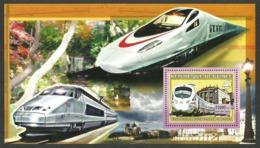 GUINEA BISSAU 2006 TRAINS HIGH SPEED GERMAN M/SHEET MNH - Guinée-Bissau