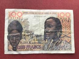 Banque Des états D'Afrique De L'Ouest 100 Francs 2/12/1964 - Suráfrica