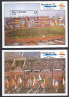Olympics 1992 - Stadien - GAMBIA - 2 S/S MNH - Summer 1992: Barcelona