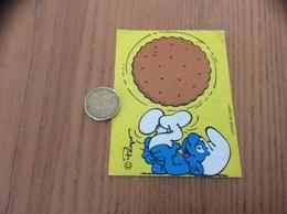 AUTOCOLLANT, Sticker «schtroumpfs (gâteau) - Peyo, LICENCE BELOKAPI 1986» - Adesivi