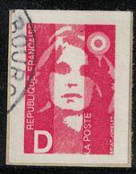 France 1991 Oblitéré Used Marianne Du Bicentenaire Briat Non Dentelé Lettre D SU - 1989-96 Bicentenial Marianne