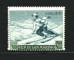 SAN MARINO 1953 PROPAGANDA SPORTIVA P.A. 200 LIRE ** MNH - Saint-Marin