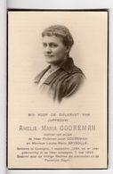 Doodsprentje VROUW FEMME Amelia COOREMAN °1884 OUDEGEM +1963 OUDEGEM // GRYSOLLE - Andachtsbilder