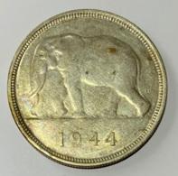 Congo Belge. 50 Francs. Argent. 1944 - Congo (Belgian) & Ruanda-Urundi